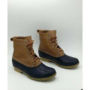 LL Bean Duck Bean Boots Tan/Blue Women's  US 9M